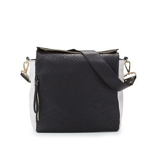 French Connection black and white hobo bag